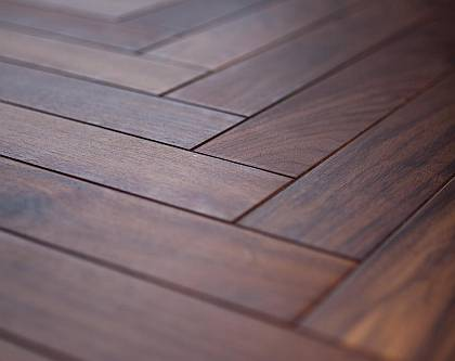 MAMBO - beautiful dark natural walnut treated with clear oil
